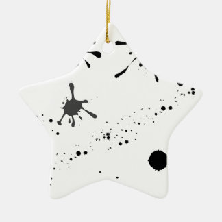 Splat Ceramic Ornament