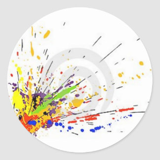 Splat Classic Round Sticker