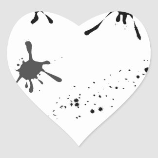 Splat Heart Sticker