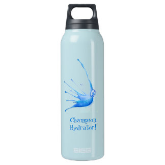 Splat of Waterfolk Custom Thermo (0.5L), Teal Insulated Water Bottle