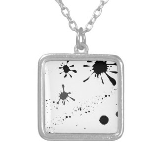 Splat Silver Plated Necklace