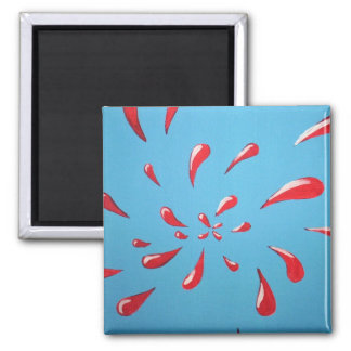 """Splat!"" Square Magnet"