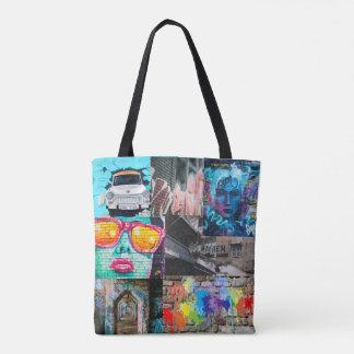 Splatted Paint Street Art Graffiti Tote Bag