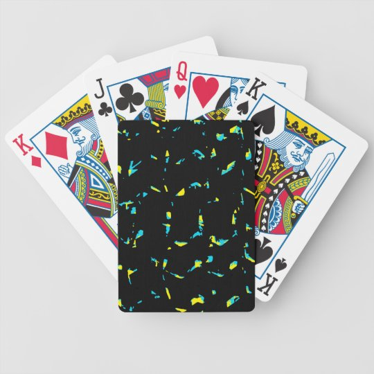 Splatter Abstract Dark Pattern Bicycle Playing Cards