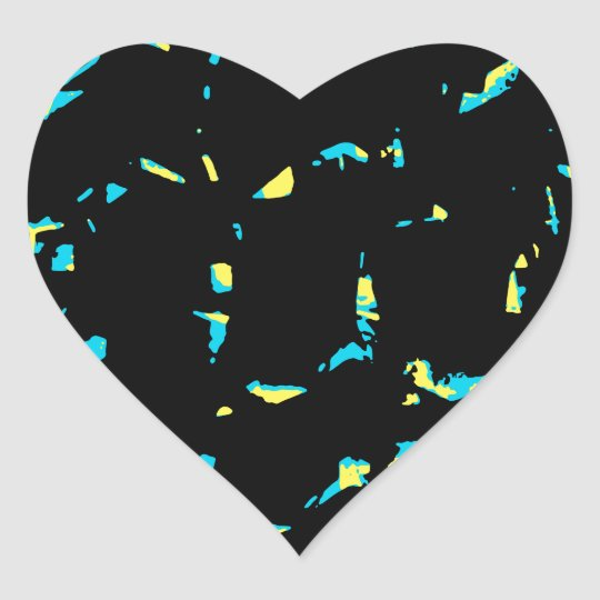 Splatter Abstract Dark Pattern Heart Sticker