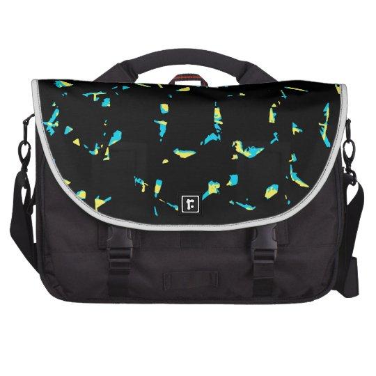 Splatter Abstract Dark Pattern Laptop Commuter Bag