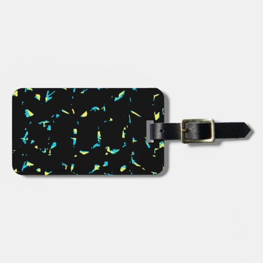 Splatter Abstract Dark Pattern Luggage Tag