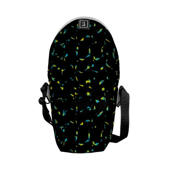 Splatter Abstract Dark Pattern Messenger Bag