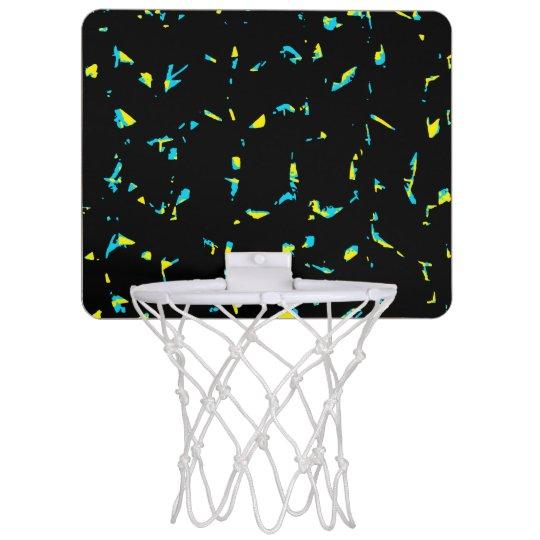 Splatter Abstract Dark Pattern Mini Basketball Backboard