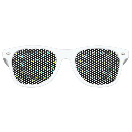 Splatter Abstract Dark Pattern Party Sunglasses