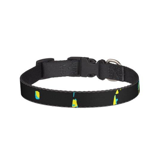 Splatter Abstract Dark Pattern Pet Collar