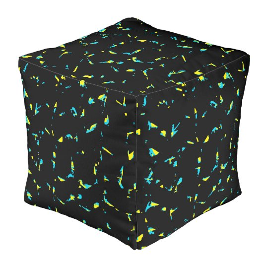 Splatter Abstract Dark Pattern Pouf