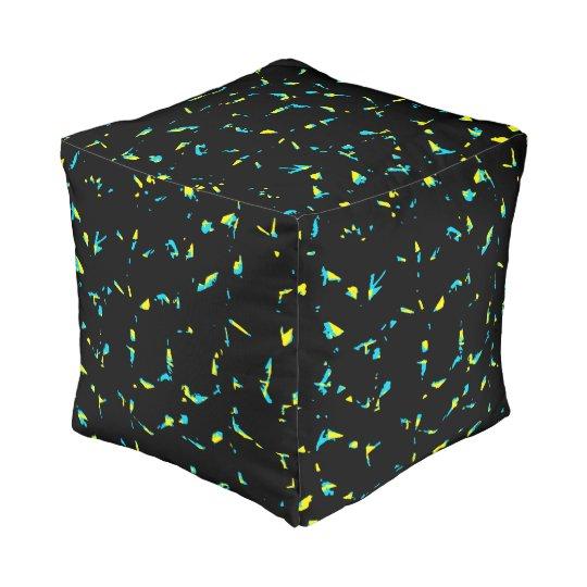 Splatter Abstract Dark Pattern Pouf