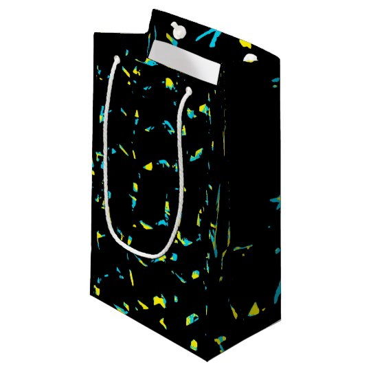 Splatter Abstract Dark Pattern Small Gift Bag