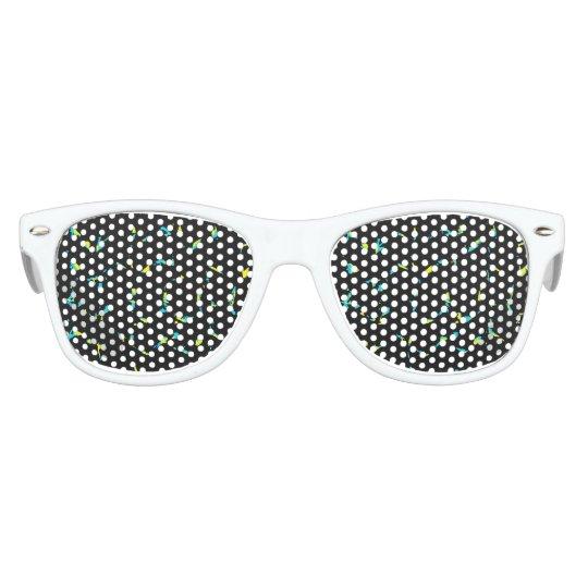 Splatter Abstract Dark Pattern Sunglasses