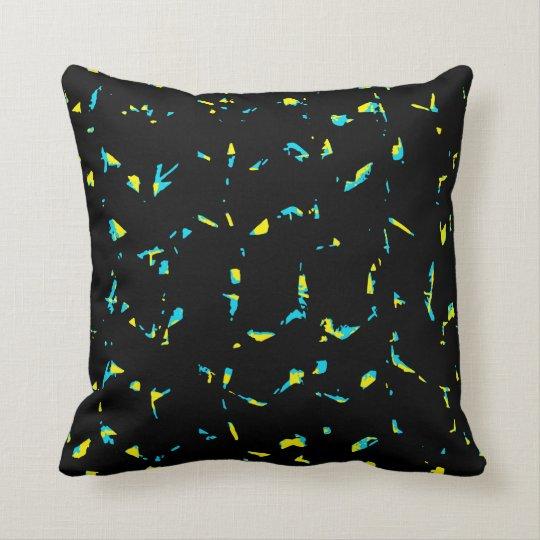 Splatter Abstract Dark Pattern Throw Pillow
