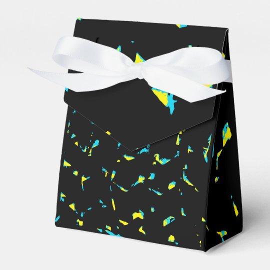 Splatter Abstract Dark Pattern Wedding Favor Boxes