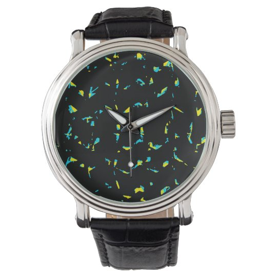 Splatter Abstract Dark Pattern Wristwatches