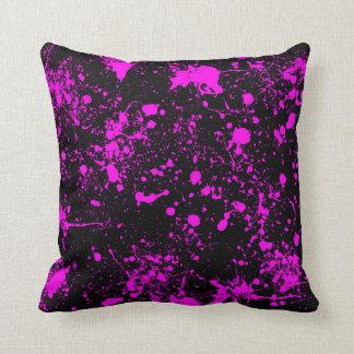 Splatter Art Pattern Throw Pillow