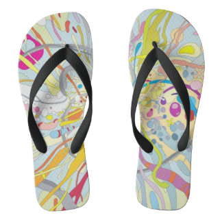 splatter beach party unisex flip flops