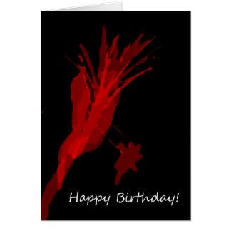Splatter Birthday Card