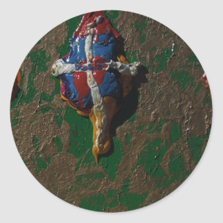 SPLATTER by PAINTINGS by Bass  TM Round Sticker