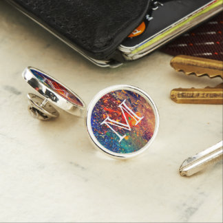 Splatter | Colorful Rainbow Abstract Psychedelic Lapel Pin
