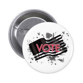 splatter flag-vote 2 inch round button
