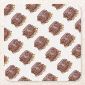 Splatter Mask WWI Square Paper Coaster