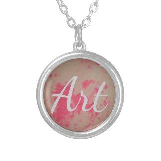 Splatter Paint Art Necklace