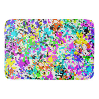 Splatter Paint Bath Mat