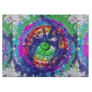 Splatter paint color wheel pattern boards