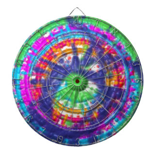 Splatter paint color wheel pattern dartboard