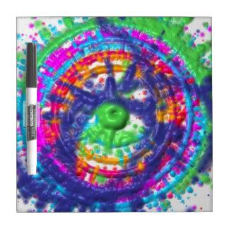 Splatter paint color wheel pattern dry erase board