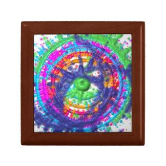 Splatter paint color wheel pattern gift box
