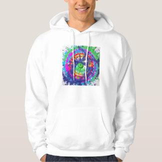 Splatter paint color wheel pattern hoodie