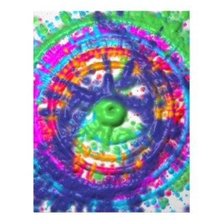 Splatter paint color wheel pattern letterhead