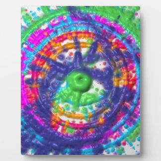 Splatter paint color wheel pattern plaque