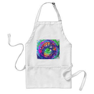 Splatter paint color wheel pattern standard apron