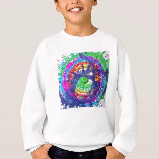 Splatter paint color wheel pattern sweatshirt