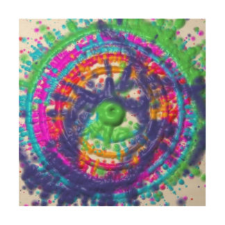 Splatter paint color wheel pattern wood canvases