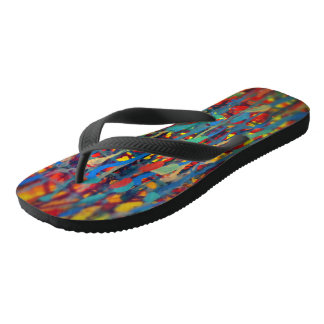 Splatter Paint Flip Flops