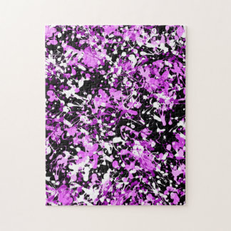 Splatter Paint in Orchid Jigsaw Puzzle
