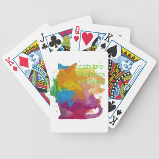 Splatter Paint Kitty Cat Poker Deck