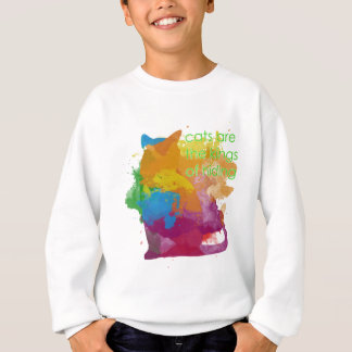 Splatter Paint Kitty Cat Sweatshirt