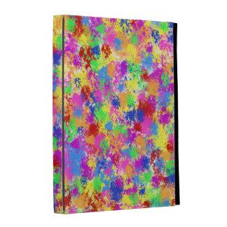 Splatter Paint Rainbow of Bright Color Background iPad Folio Cover