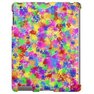 Splatter Paint Rainbow of Bright Color Background