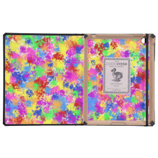 Splatter Paint Rainbow of Bright Color Background iPad Cover