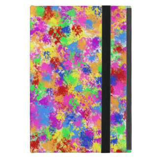 Splatter Paint Rainbow of Bright Color Background Covers For iPad Mini
