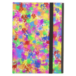 Splatter Paint Rainbow of Bright Color Background Case For iPad Air